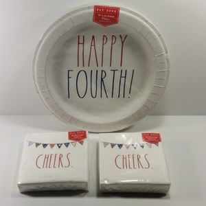 Rae Dunn Fourth of July Plates and Napkins